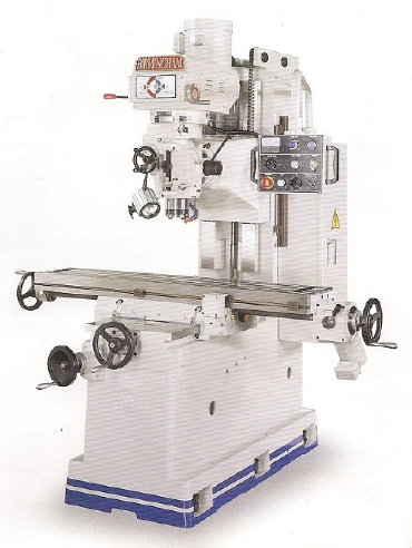 BIRMINGHAM  BPV-B2V40 5 HP BED  TYPE  VARIABLE SPEED MILLING MACHINE - Illustrated